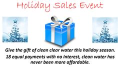 Give the gift of clean clear water this holiday season. Holidays And Events, Cleaning, Seasons, Water, How To Make, Gifts, Products, Gripe Water, Presents