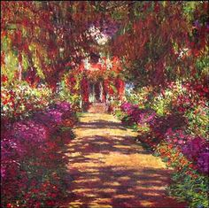 You know Monet was drinking a glass of Bordeaux when painting this. And likely munching on some brie.