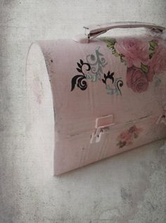 Vintage Shabby Metal Lunch Pail Altered Upcycled by ShabbyPeonie