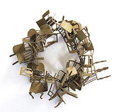 Åsa Elmstam, necklace Things I, 2010, brass, plastic, 200 x 200 x 50 mm