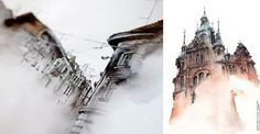 Gorgeous Watercolors Capture European Architecture In Dreamlike Washes