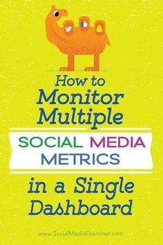 Do you manage multiple social media profiles for your business?  Setting up a customized dashboard lets you monitor and report on the performance of your social media platforms in one convenient place.  In this article, you'll discover how to set up a dashboard to track key social media metrics for your business. Via /smexaminer/.