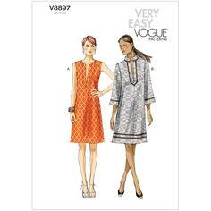 Misses Dress Vogue Pattern 8897.