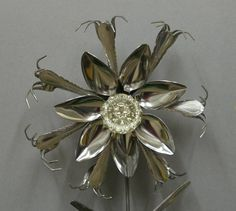 Silverware Art Glass Door Knob Stainless Silverware by HARDWOODMAN, $34.00