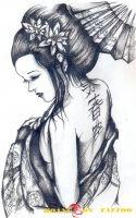 hình xăm geisha 6