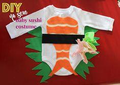 DIY No-Sew Baby Sushi Costume by SUNNYINRENO
