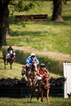 A race at the High Hope Steeplechase at the Kentucky Horse Park