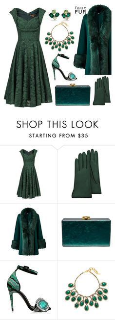 """""""Faux Fur #2"""" by tjclay3 ❤ liked on Polyvore featuring Jolie Moi, Forzieri, Edie Parker, Pierre Hardy, Elizabeth Cole, Kate Spade and fauxfurcoats"""