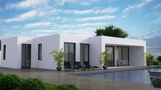 IBIZA DONACASA 232  M2 Minimalist House Design, Minimalist Home, Bungalows, Ibiza, Modern Bungalow House, Custom Homes, Modern Architecture, Construction, Club