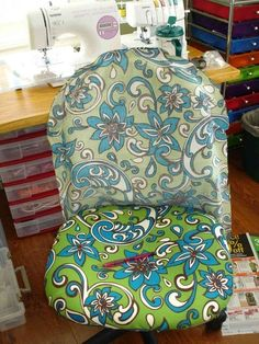 Office chair sewing projects pinterest office chairs slipcovers