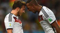 Gotze celebrando un gran gol contra Argentina en el mundial 2014!!!