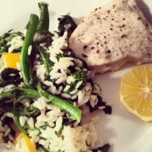 Roasted #Swordfish with Meyer Lemon Rapini Risotto #dinner #recipe # ...