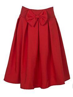 Choies Women's Red Casual Pleat Bowknot Front Midi Skirt ... https://www.amazon.com/dp/B019PP5SWA/ref=cm_sw_r_pi_dp_x_4cDjybV3H3BNZ