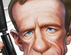 Caricature Drawing, James Bond, New Work, Behance, Digital, Gallery, Drawings, Check, Art