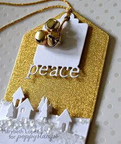 Gold Peace tag by Marybeth's time for paper #scrapbook #homemade