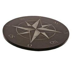 Natursten kompass & kompassros i granit perfekt för att skapa en unik trädgård