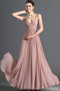 Bridesmaids Chiffon Dress Women Casual Deep V neck Backless Sexy Party Dress Sleeveless maxi pink Dresses vestidos Prom Gown Event Dresses, Formal Evening Dresses, Evening Gowns, Evening Party, Formal Prom, Occasion Dresses, Formal Wedding, Dress Formal, Gold Wedding
