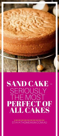A Sand Cake is a very old fashioned cake like a cross between a light sponge and a heavy butter cake. It makes for a wonderful birthday cake and can be made in large batches. Just Desserts, Dessert Recipes, Frosting Recipes, Dessert Ideas, Cake Ideas, Sand Cake, Plain Cake, Sponge Cake Recipes, Sponge Cake Recipe Best