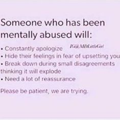 """Sometimes you don't even realize the abuse till you read a description of yourself and think """"...this isn't normal?"""""""