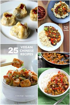 25 Vegan Chinese Recipes | Kung Pao, Sweet and Sour, Dumplings, Steamed Buns, Orange Tofu, Potstickers, Soups and more.