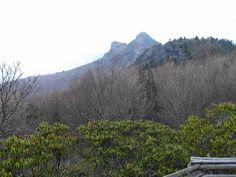 Grandfather Mountain, a land mark near Linville, North Carolina. ~~ 4/11/2001