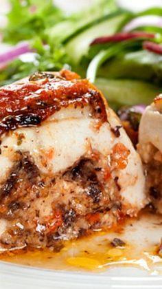 Mozzarella & Tomato-Stuffed Chicken Breasts