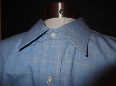 Brooks Brothers Blue Checked Non-Iron Cotton Dress Shirt Sz 17.5 / 4-5   Retail 78.00    Our price $34.95!