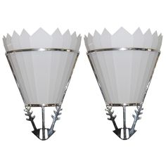 1stdibs.com   Pair of Large and Impressive Art Deco Theater Wall Sconces  TFTM Melrose, LA