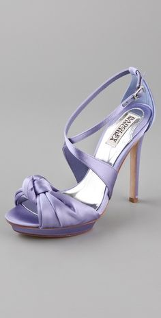 Badgley mischka Wallis platform Sandals in Nile Blue - $215 - I know it says blue, but it looks like light purple to me