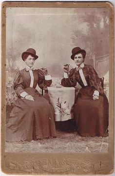 Cabinet Card Photo Women Smoking Cigars West Union MN Women's Lib CA 1895 | eBay