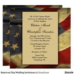 American Flag Weddin