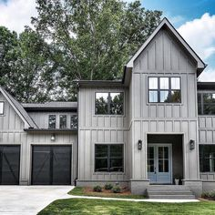 Photo shared by Leah 🏡 Design Modern Farmhouse Exterior, Modern Cottage, Home Pictures, New Builds, Exterior Paint, My Dream Home, Architecture Design, House Plans, Sweet Home