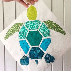 Taylor Marie Paul added a photo of their purchase Paper Pieced Quilt Patterns, Quilt Block Patterns, Pattern Blocks, Quilt Blocks, Sea Turtle Quilts, Turtle Pattern, Animal Quilts, Barn Quilts, Crib Quilts