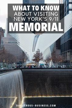 Visiting the 9/11 Memorial in New York City is a very somber experience, but it is worth your time when you come to New York City. Here are my tips and suggestions for visiting the 9/11 Memorial. #NYC #Memorial #GroundZero