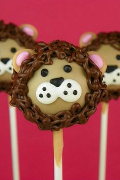 Jungle-Safari Party - Lion Cake Pop inspiration