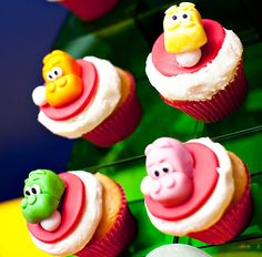 Hungry Hungry Hippo cupcakes