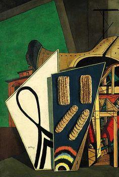 Giorgio de Chirico, La Révélation du solitaire, Olio su tela, x 53 cm. De Chirico, Giorgio, Surrealist, Surreal Art, Metaphysical Art, Victorian Art, Surrealism, Italian Painters, Italian Artist