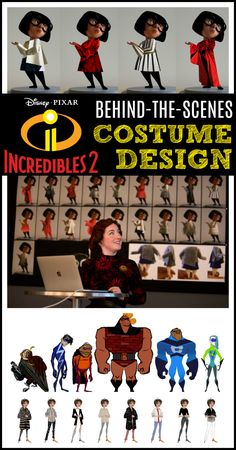 Incredibles 2 behind the scenes costumes Disney Planning, Disney Tips, Disney Love, Disney Pixar, Walt Disney, Disney World Packing, Disney Travel, Disney Bound, Edna Mode