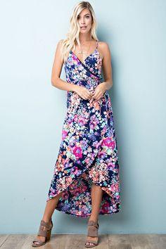 Floral Print Maxi Dress – Aynara Fashion Floral Print Maxi Dress 225d6f276