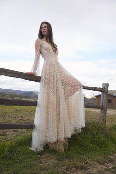 Polka Dot Wedding Dress, Wedding Gowns With Sleeves, Dress Silhouette, 15 Dresses, Ball Dresses, Dream Wedding Dresses, Bridal Gowns, Brides, Bend At The Waist