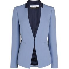 Jaeger Tailored Blazer, Light Blue (150 CAD) ❤ liked on Polyvore featuring outerwear, jackets, blazers, coats, light blue, tailored jacket, long sleeve blazer, pastel blue blazer, blue blazer jacket and blue jackets