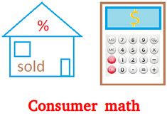 Consumer math Consumer Math, Basic Math, Homeschool Math, Math Skills, Teaching Math, Algebra, Mathematics, Budgeting, Investing