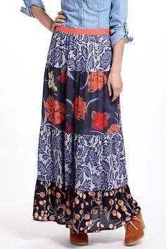 Anthropologie - Tiered Maxi Skirt by Vanessa Virginia