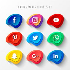 Social Media Icons Pack Button Effect Free Vector Social Icons, Social Media Logos, Social Media Buttons, Youtube Logo, App Logo, Media Kit, Vector Free Download, Free Logo, Icon Pack