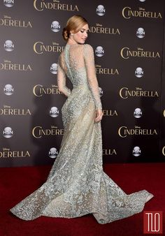 Lily-James-Richard-Maden-Cinderella-Los-Angeles-Movie-Premiere-Red-Carpet-Fashion-Elie-Saab-Couture-Tom-Lorenzo-Site-TLO (6)