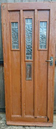 Art Deco Front Doors 1930 s stained glass front doors1930