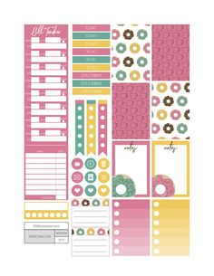 I Dream in Glaze Planner Stickers - Fit Life Creative