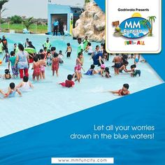Take a splash in the pool and let all your worries drown in the blue waters! #MMFunCity #Chhattisgarh #WaterPark