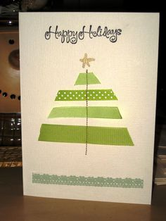 the stationery place: quick christmas ideas: ribbon tree cards
