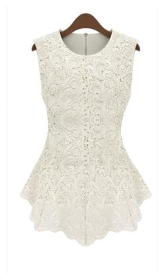 Chic Lace Blouse. A chic form fitting blouse with a hollowed out lace overlay. Available at Shopaholica.net